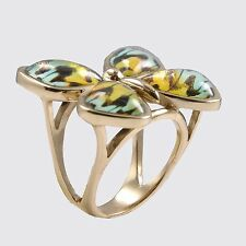 Barse Jewelry Colorful Bronze Butterfly Ring Size 8