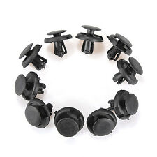 10Pcs Fender Splash Shield Retainer Clip Fastener For Suzuki Mazda 97-on Black