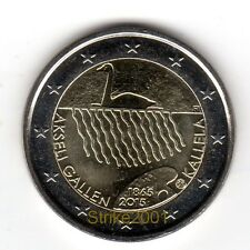 NEW !!! 2 EURO COMMEMORATIVO FINLANDIA 2015 Akseli Gallen-Kallela !disponibile!