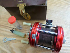 Vintage ABU Ambassadeur 5000 Multiplier Baitcasting Fishing Reel & Case