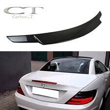 Real Carbon Mercedes Benz SLK R172 SLK200 SLK350 V Type Rear Trunk Spoiler 11+