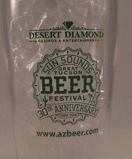 2 New 2016 Tucson Az Casino Bew Beer Fest Pint Plastic Cup Mug Glass