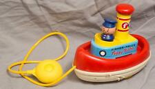 Vintage Fisher Price Toy Tuggy Tooter Tug Boat 1960's egm