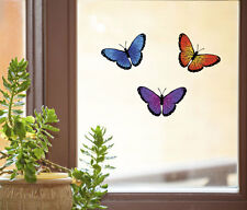 "CLR:WND 3 Butterfly Multipack See-Through Vinyl Window Decal ©YYDC SM 3.5""w x2""h"