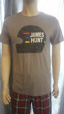 JAMES HUNT DISTRESSED / VINTAGE HELMET T-SHIRT. SMALL. R.R.P £35