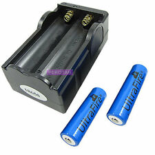 2x 18650 2400mAh 3.7V Li-ion Rechargeable Batterys +18650 Charger