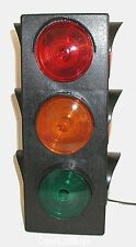 (1) TRAFFIC SIGNAL 3 SIDED LIGHT ~ BLINKING / FLASHING - Electric w/6' Cord