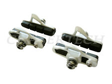 New Road Bicycle Bike Caliper Cartridge Brake Pads Shoes White 2 Pairs