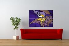 SPORT MINNESOTA VIKINGS FOOTBALL AMERICAN LOGO GIANT ART POSTER NOR0843