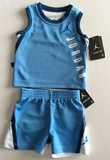Nike Air Jordan 6-9M Months Baby Boy 2 Piece Set Basketball Vest Shorts Blue Top