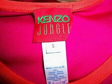 KENZO JUNGLE STRIKING PINK AND ORANGE SUPER SEXY TIGHT FITTING BODY CON DRESS SM
