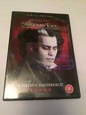Sweeney Todd - The Demon Barber of Fleet Street (DVD, 2008) region 2 uk dvd