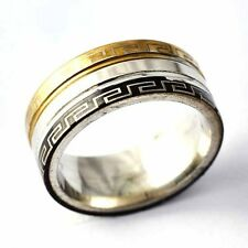 Arab pattern Gold Filled/stainless steel Unisex Promise Love Band Ring Size 10