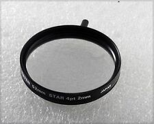 TIFFEN 52MM 4POINT 2MM STAR  SCREW IN METAL FILTER IN CASE USED
