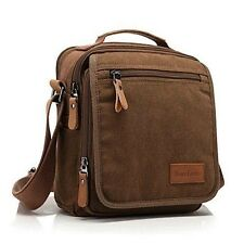 Ibagbar Men's Vintage Canvas Shoulder Everyday Bag Brown