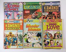 DC comics Bronze lot,Action,Young Love, Wonder Woman, etc 6 issue lot SB