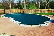 Safety Mesh Pool Cover For Kidney or Free Form Shaped Pools Max Size 18' x 36'