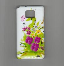 case cover SCHUTZHÜLLE für Samsung  Galaxy S2 i9100  BLUMEN Hochglanz  NEU