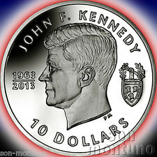 50TH ANNIVERSARY of JOHN F KENNEDY Silver Proof Coin 2013 British Virgin Islands