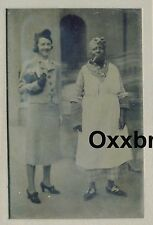 BLACK SERVANT FREE SLAVE TINTYPE PHOTO Pipe Smoking House Keeper Maid Mama