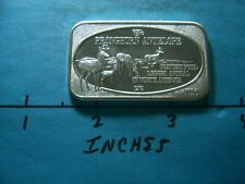 PRONGHORN ANTELOPE AMERICA 1974 VINTAGE USSC 999 SILVER BAR COIN RARE NICE