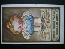 POST CARD KUTE KIDDLES GUESS WHERE THOSE BANANAS ARE? APPROX 1920'S