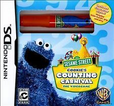 NDS Seasame Street Cookie's Counting Carnival Nintendo DS NEW SEALED