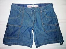 Mossimo Supply~ Size 5~ Lowest Rise SHORTS~ Roll-Up Leg~ 100% Cotton~ Dark Blue