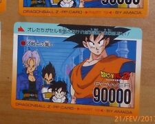 DRAGON BALL Z DBZ AMADA PP PART 19 CARD CARDDASS CARTE 833 MADE IN JAPAN NM
