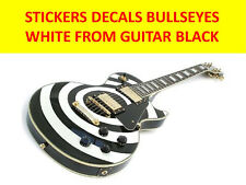 STICKERS BULLSEYE WHITE FROM GUITAR LES PAUL BLACK VISIT MY STORE CUSTOM GUITARS
