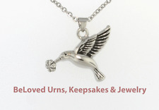 Hummingbird Cremation Jewelry Pendant Keepsake Memorial Urn Necklace & Funnel