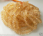 "7"" half strand AAA CITRINE faceted large gem stone rondelle beads 5mm - 8mm"