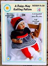 "DOLLS KNITTING PATTERN 17""/18""inch ANNABEL  doll No.266 by Val Young-"
