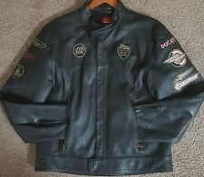 DUCATI by DAINESE Biker Genuine Cow Leather Motorcycle Jacket Size XL