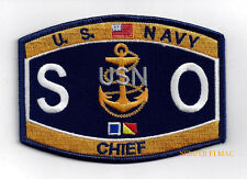 Chief Special Warfare Operator SOC RATING HAT PATCH US NAVY PIN UP SEAL TEAM WOW