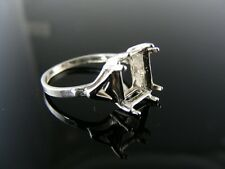 5655 RING SETTING STERLING SILVER, SIZE 6.5, 8X8 MM SQUARE STONE