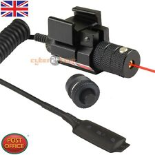 Tactical Red laser Sight Airsoft F 21mm Weaver Picatinny Mount w/ Remote Switch