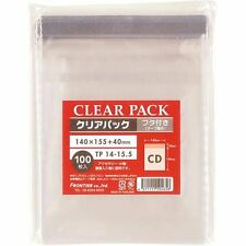 100 pcs Reesealable Outer Plastic bag film for Jewel CD Case from Japan