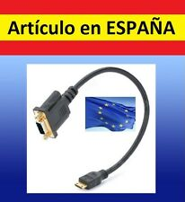 Cable adaptador VGA hembra MINI HDMI macho salida television tv ordenador pc AV