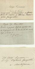 Lettera Autografa di Mons. Luigi Corsani Vescovo di Fiesole 1883