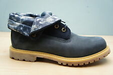 Timberland Womens Size 6.5 UK Authentic Indigo Roll Top Leather Boots Ladies BN