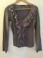 Velvet By Graham & Spencer Purple Button Down Blouse, Size P (Petite)