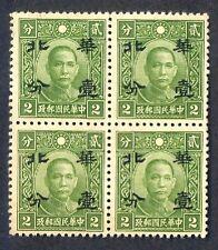 JapOcc N. China 1942 1c/2c Chung Hua Pt SYS (B/4 Re-eng) MNH