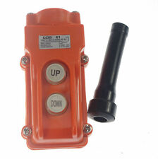 (1)For Hoist And Crane Pendant Control Station Push Button Switch UP-Down COB-61