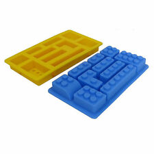 Lego Brick Style Rectangle Sharped Silicone Ice Mold Building Blocks Ice Tray