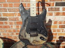Custom Fire/Plycaster Charcaster Stratocaster Heavy Relic'd Electric Guitar