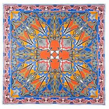 Liberty of London Orange Ianthe Printed Silk Scarf Made In Italy RRP £195