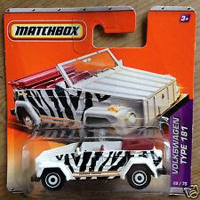 Matchbox VW Volkswagen Type 181 182 Jungle Thing Trekker - black & white