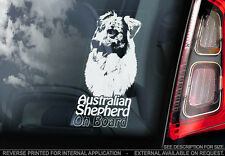 Australian Shepherd - Car Window Sticker - Dog Sign -V04