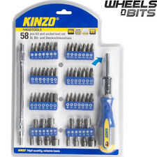 58PCS SOFT GRIP RATCHET SCREW DRIVER MAGNETIC FEXI EXTENSION WITH BITS & SOCKETS